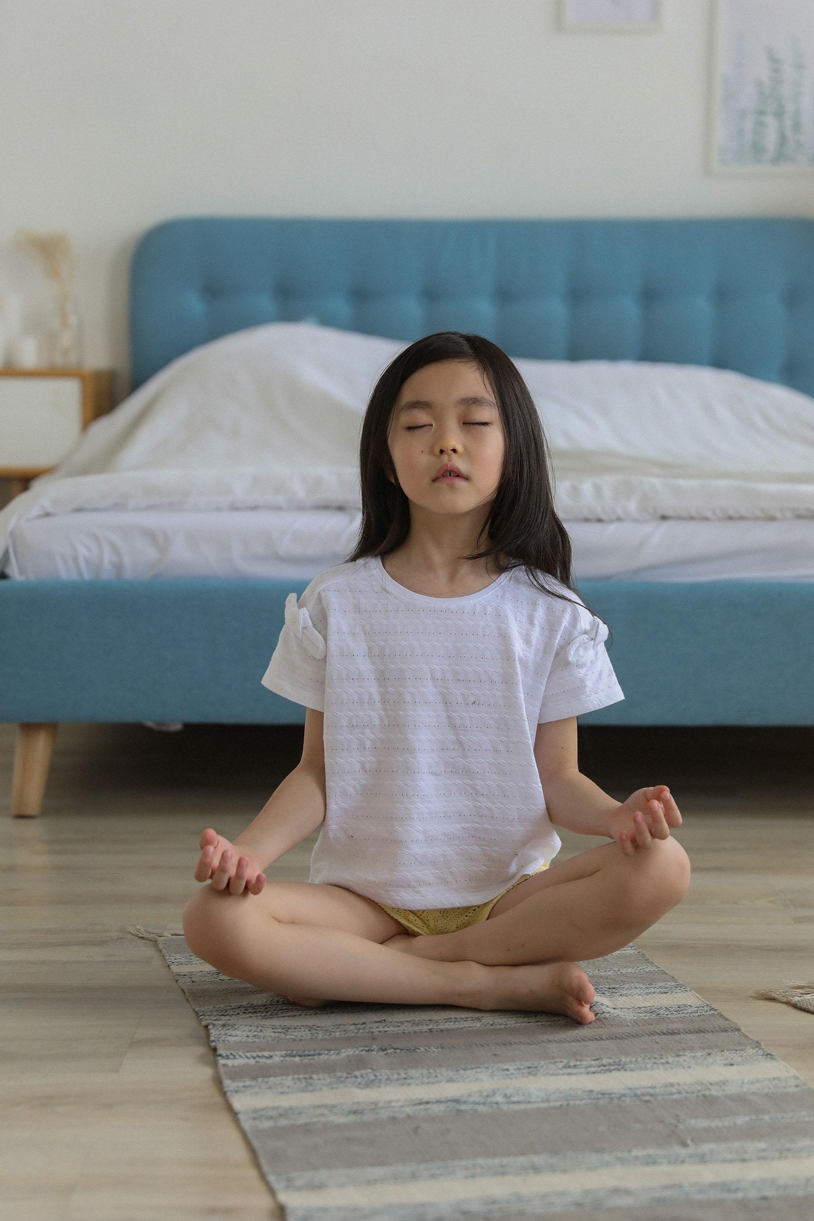 Meditation für Kinder ist beruhigend
