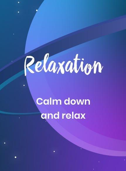 Entspannung für Kinder - Runterkommen und Ausruhen.